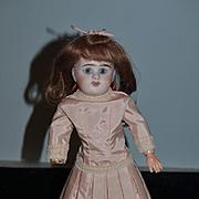 Antique Doll French Bisque E D Cabinet Size Adorable Original Paper Tag