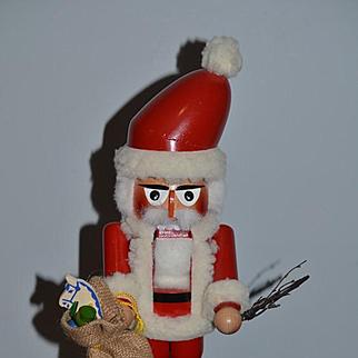 Vintage Original Steinback Volkskunst German Santa Claus Nut Cracker Nutcracker Wood Large