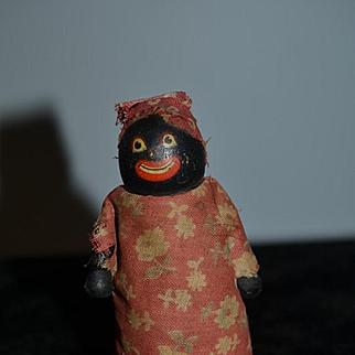 Old Doll Black Wood Ramp Walker Unusual