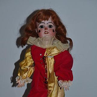 Antique Doll Bisque Doll Wonderful Clown Jester Sarre Adorable Unusual Sonneberg Porzellan Fabrik