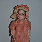 Antique Doll Bisque Character Doll Wonderfully Dress G &S Gans & Seyfarth