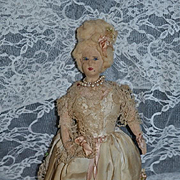 Old Doll Cloth Doll Marie Antoinette New Orleans Old Character