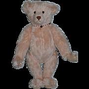 "Vintage Teddy Bear Artist Stier Bears Kathleen Wallace German Mohair ""Rose"" Wonderful Pink Bear"