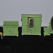 Wonderful Doll Dollhouse Miniature Cottage Painted Furniture SET Wood