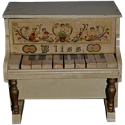 Antique Doll Miniature Bliss Wood and Litho Piano Gorgeous