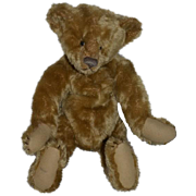 Wonderful Teddy Bear Artist Bear Signed Leather Tag Hump Back Mohair