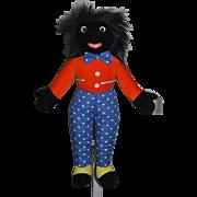 Vintage Merrythought Golliwog English Doll w/ Tags! Black Cloth Doll