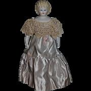 Vintage Doll Artist Doll Emma Clear Parian Gorgeous Hair Style W/ Corset