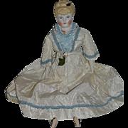 Vintage Doll Artist Doll Emma Clear China Head Fancy w/ Molded Collar