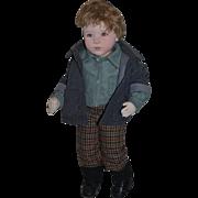 Wonderful Doll Artist Boy Cloth Prototype Artist Proof Carole Bowling Adorable