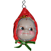 Vintage Doll Artist Lewis Sorensen Wax Doll Ornament Googly Watermelon Smile