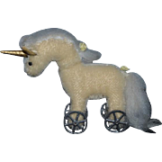 Sweet Unicorn Miniature Doll Toy Dollhouse Artist By Elva Unicorn on Wheels