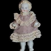 Old Doll Miniature Parian China Head Dollhouse Pale Gorgeous