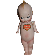 Old Kewpie Doll Bisque Jointed Original Tag and signed by Rose O'neill
