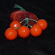 Vintage Unusual Bakelite Pin Brooch Fruit