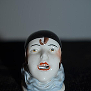 Antique Doll Half Doll Jester Clown Unusual Miniature