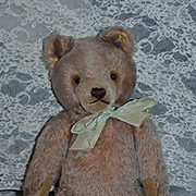 Old Teddy Bear Steiff W/ Silver Button Tag Jointed Mohair