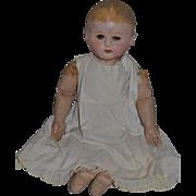 "Antique Doll Martha Chase Oil Cloth W/ Chase signed Body 25"" Tall Big Boy!"