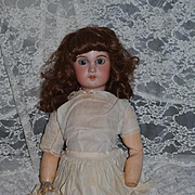 """Antique Doll French Bisque 1907 Large Doll Sweet Face 25"""" Tall"""