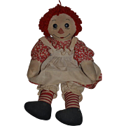 Vintage Doll Raggedy Ann Big Button Eyes Big Girl