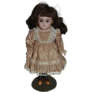 Antique Doll Bisque Head French Market Sonneberg Stockings Miniature Cabinet Size Closed Mouth