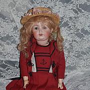 Antique Doll JDK Kestner Bisque Doll 260 Character Dressed