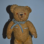Old Jointed Teddy Bear Straw Filled CUTIE!