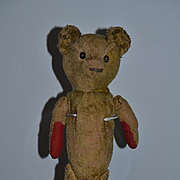 Antique Teddy Bear MOST LOVED Button Eyes Mohair Jointed Charming Doll Friend Long Body