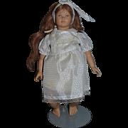 Artist Doll Swiss Design Heidi Ott Artist Doll Human Hair Wig Sweet!