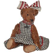 Sweet Teddy Bear Jointed All Dressed up! Button Eyes: