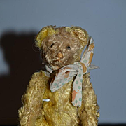 Old Miniature Teddy Bear Jointed Adorable Doll Size