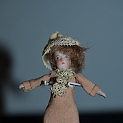Antique Doll Miniature Solid Dome Bisque Dollhouse All Bisque
