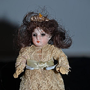 Antique Doll Miniature Bisque Dollhouse Factory Clothing