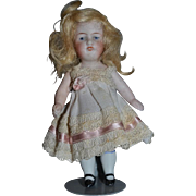 Antique Doll All Bisque Miniature 150 Kestner Dollhouse Dressed