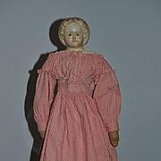 Antique Doll Greiner W/ Tag Papier Mache