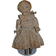 Old Doll Cloth Doll Rag Doll Printed Features