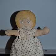 Old Doll Cloth Doll Rag Doll Bruckner Doll Tagged Original Clothes and Stamped