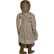 Old Cloth Doll Rag Doll Bruckner? Printed Face Old Clothes