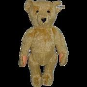 Vintage Teddy Bear Steiff Bear Brass Button Tag Jointed