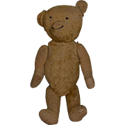 Antique Teddy Bear Large Mohair Jointed Smiling Button Eyes