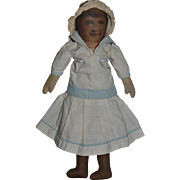 Sweet Old Doll Cloth Doll Printed Face Great Doll Clothes