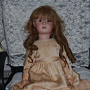 """Antique Doll French Bisque Jumeau 1907 GORGEOUS 32"""" Big Girl Chunky Body"""