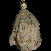 Antique Doll Tuck Comb Doll Wood Doll Miniature Pin Cushion Charming Dollhouse
