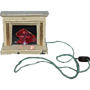 Old Doll Miniature Fireplace Metal Ornate Dollhouse