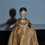 Old Doll Wood Grodnertal Jointed Pegged Carved Doll