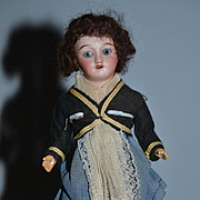 Old Sweet French Doll Cabinet Size Original Factory Clothing