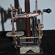 Antique Miniature Child's Doll Sewing Machine Chain Driven The Little Comfort Smith & Egg Working