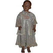 Old Doll Mannequin Child Papier Mache W/ Outfit 1930's