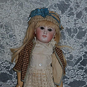 Antique Doll Bisque Early Sonneberg Original French Market Closed Mouth Straight Wrist
