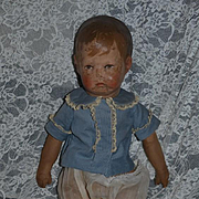Antique Doll Old Oil Cloth Kathe Kruse Wonderful Doll Signed Series 1
